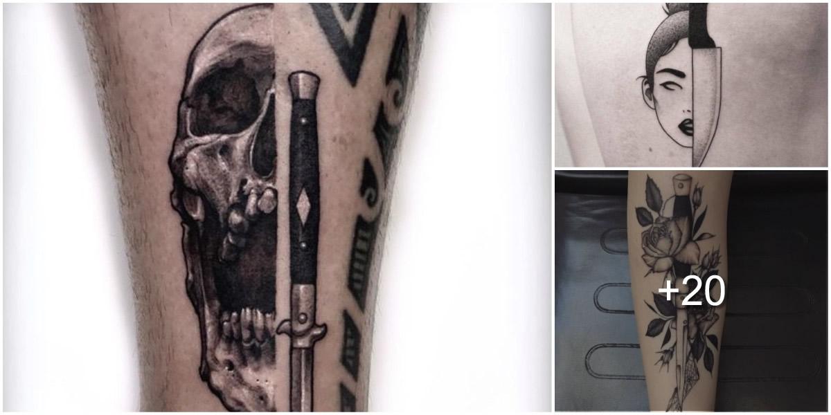 tatuajes con cuchillos1 Los 7 tatuajes que dan mala suerte y que jamás deberías tatuarte