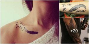 25 Ideas de Tatuajes con Plumas