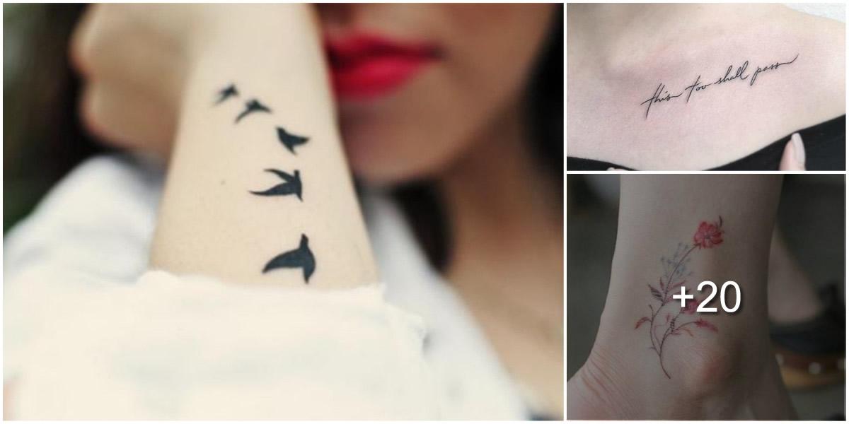 Tatuajes delicados perfectos para chicas coquetas