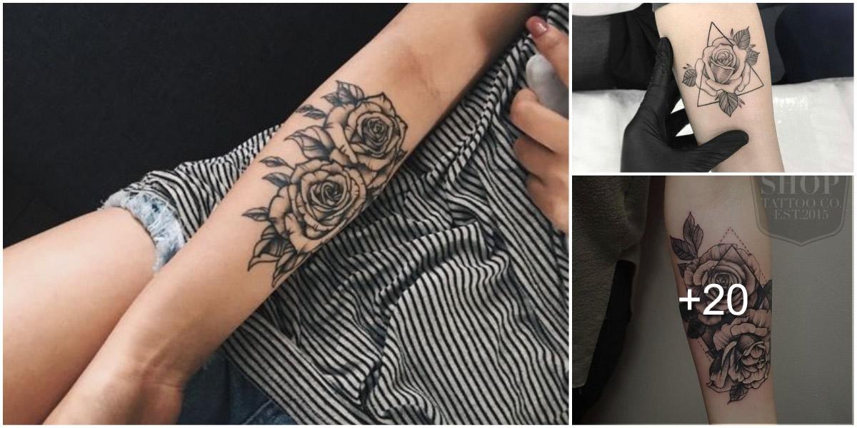 Tatuajes de Rosas en tonos negros
