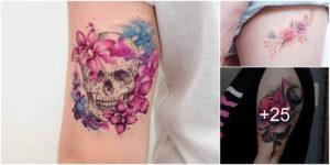 Tatuajes de Flores en Acuarela