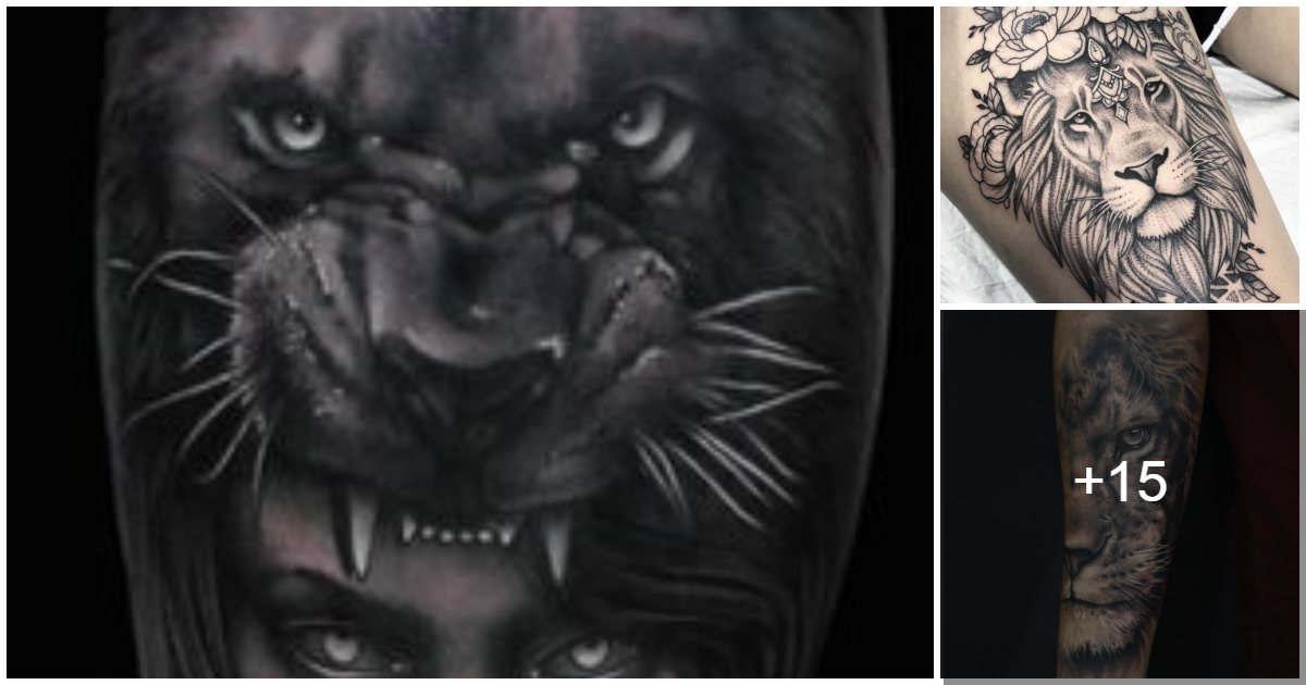 Tatuajes inspirados en felinos salvajes