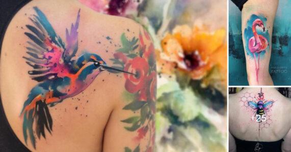 Lee más sobre el artículo 25 Asombrosos y Coloridos Tatuajes Acuarela por «Pablo Ortiz»