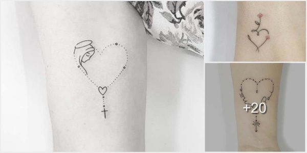 Tatuajes de corazones pequeños y originales