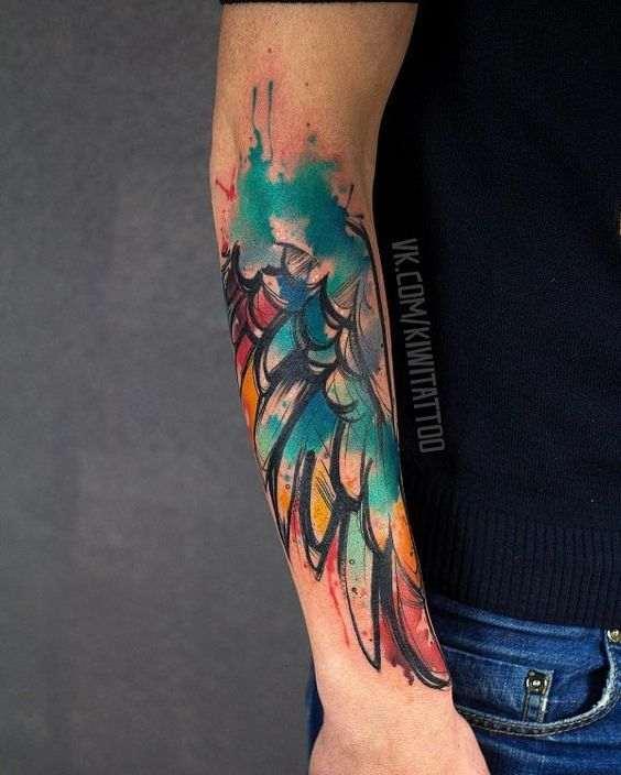 tatuajes de alas 5 25 Diseños de Tatuajes de Alas en los Brazos
