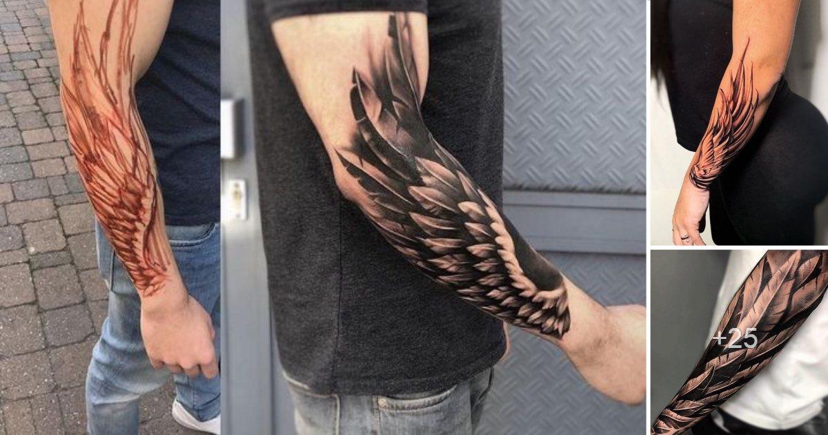 25 Diseños de Tatuajes de Alas en los Brazos