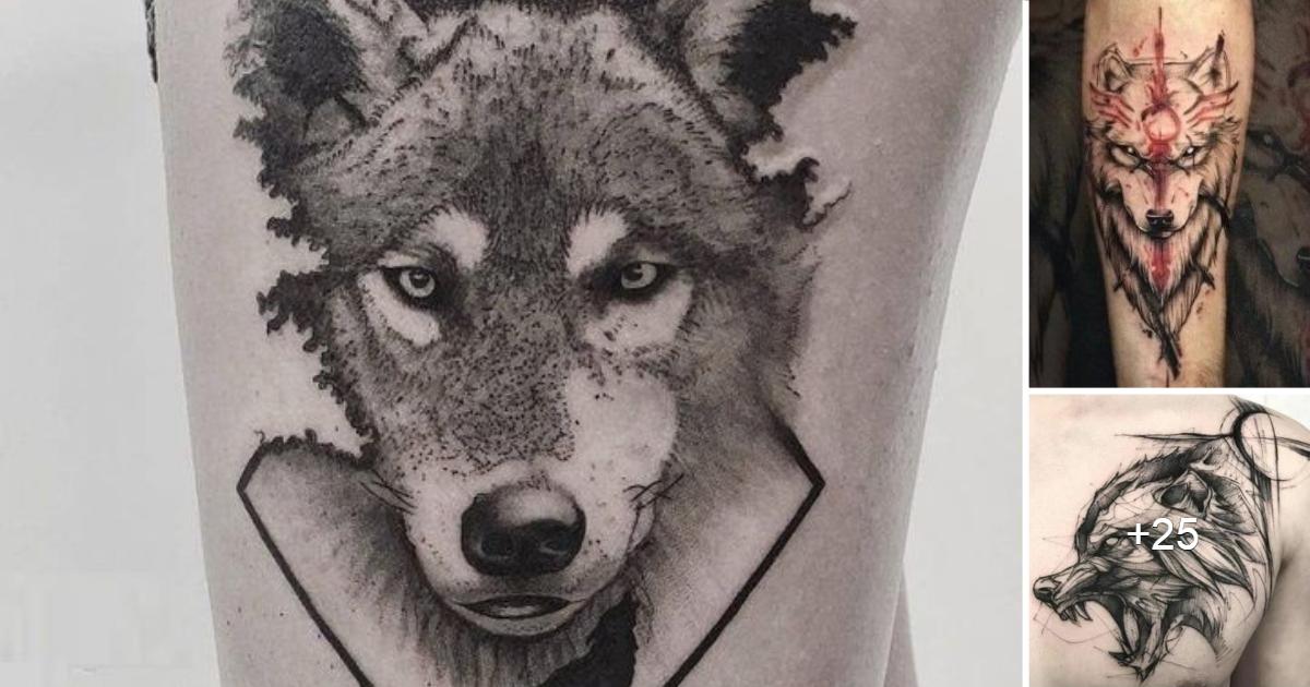 45 Diseños Increíbles de Tatuajes de Lobos