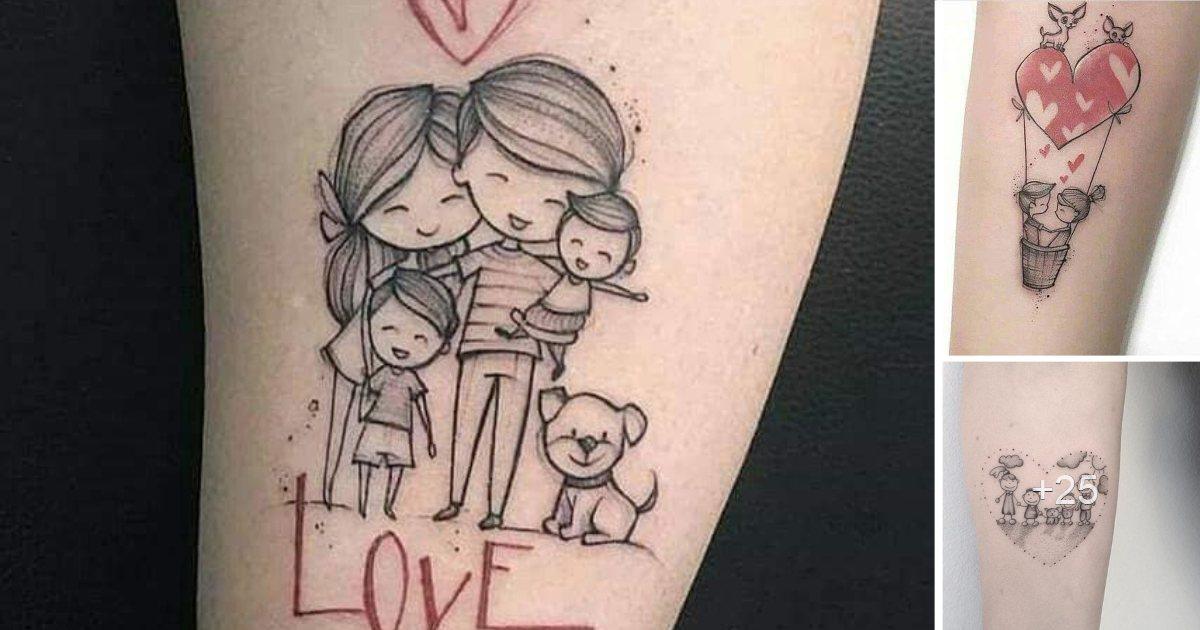 30 Diseños de Tatuajes en Honor a la Familia