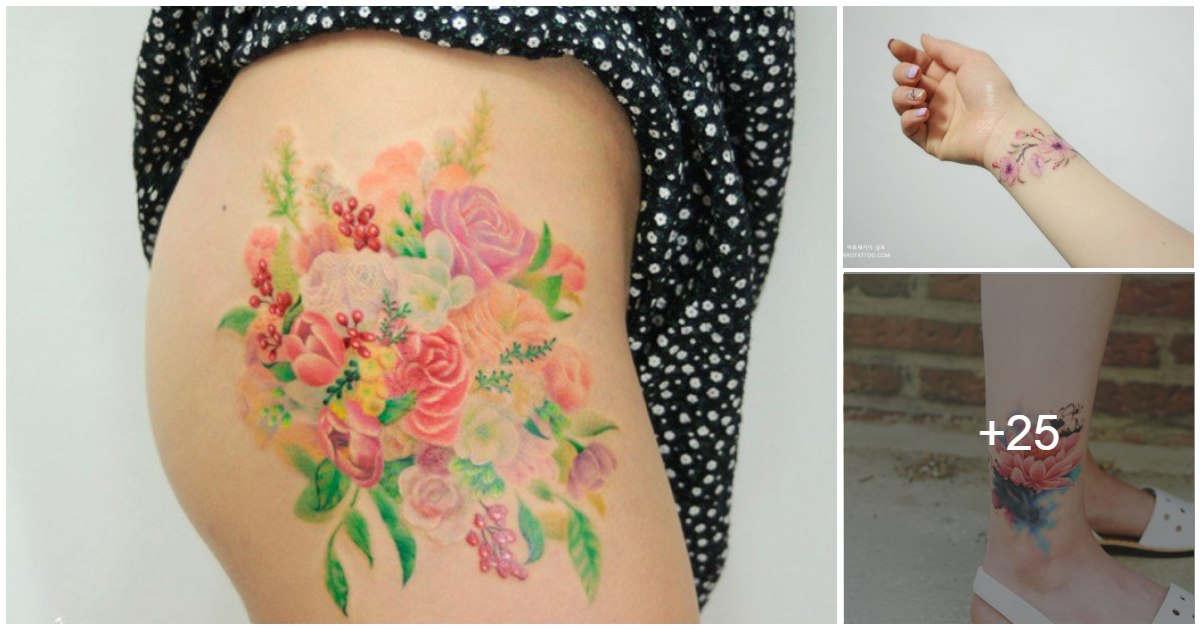 Tatuajes Florales Estilo Coreano