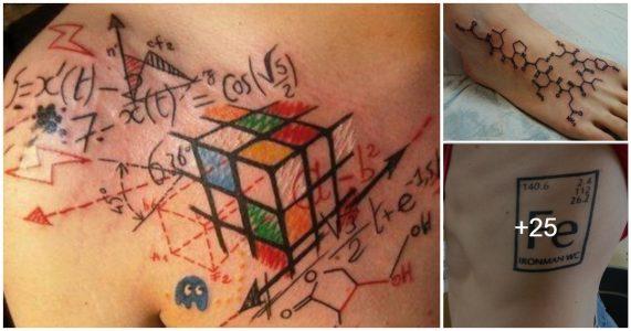 Tatuajes inspirados en la ciencia