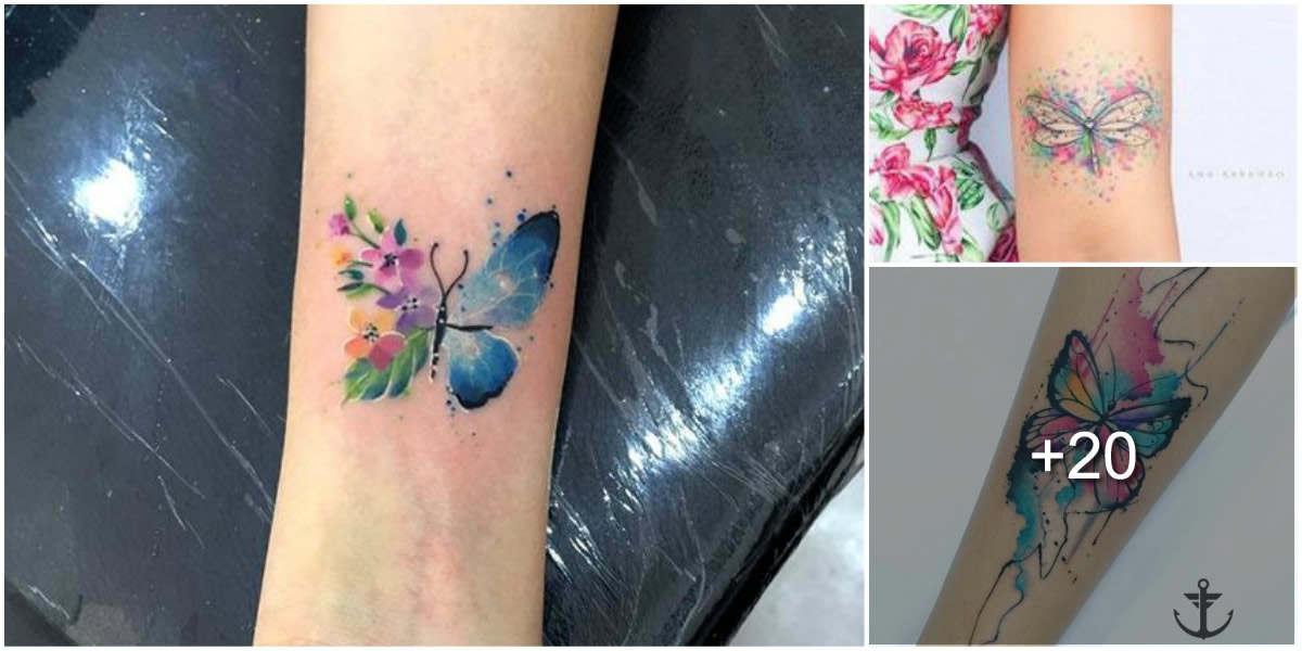 Tatuajes de mariposas que simbolizan una metamorfosis