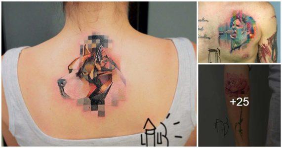 Tatuajes estilo Pixel and Glitch