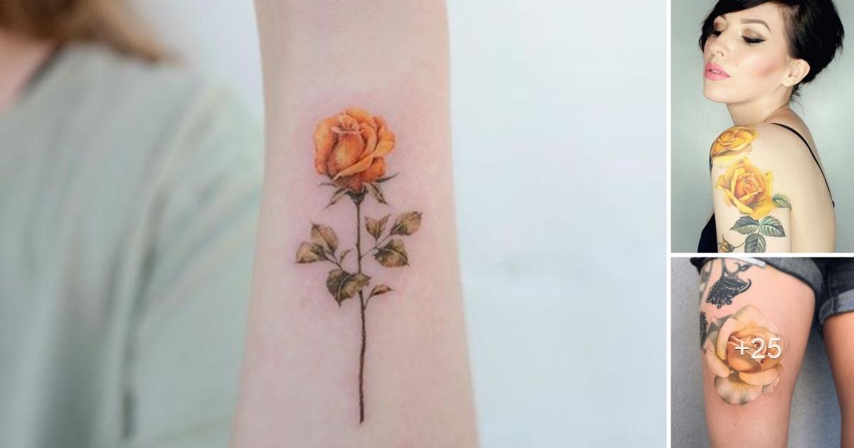 45 Asombrosos Diseños de Tatuajes de Rosas Amarillas que Necesitas Ver