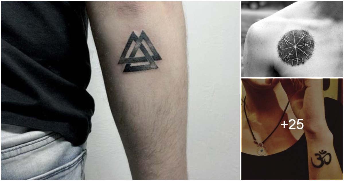 Tatuajes pequeños con letras y símbolos