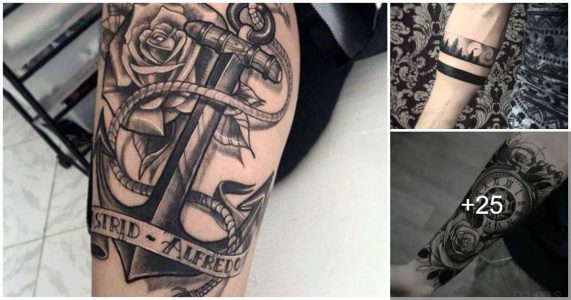 Tatuajes con tinta negra para hombres
